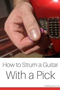 How to Strum a Guitar With a Pick