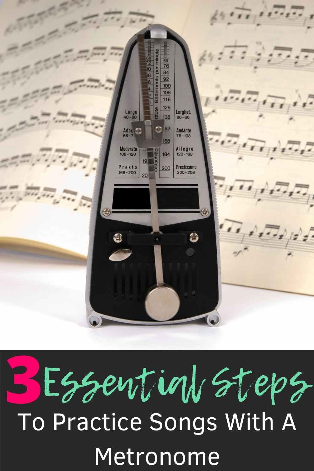 A metronome and a tab for efficient practice