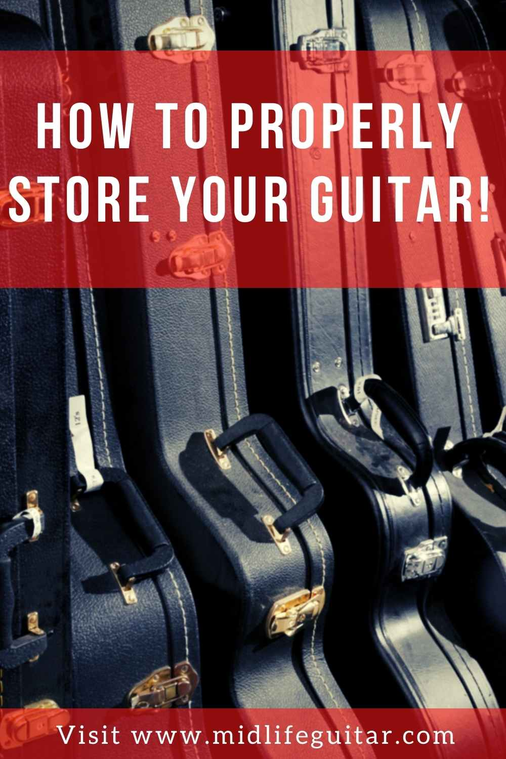 Guitars store properly upright and in a hard case